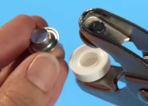 Metoda corecta de aplicat capse si ocheti cu sau fara cleste